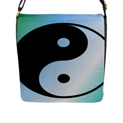 Ying Yang  Flap Closure Messenger Bag (large) by Siebenhuehner