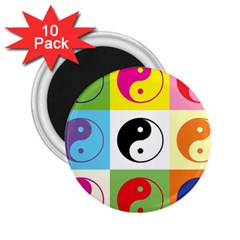 Ying Yang   2 25  Button Magnet (10 Pack) by Siebenhuehner