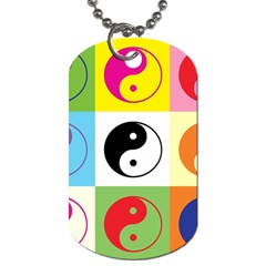 Ying Yang   Dog Tag (two Sided)  by Siebenhuehner