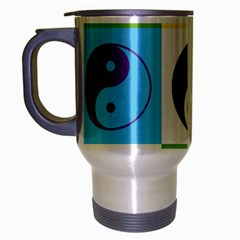 Ying Yang   Travel Mug (silver Gray) by Siebenhuehner