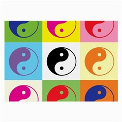 Ying Yang   Glasses Cloth (large, Two Sided) by Siebenhuehner