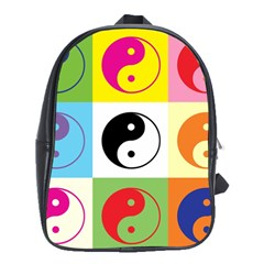 Ying Yang   School Bag (Large) by Siebenhuehner