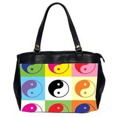 Ying Yang   Oversize Office Handbag (two Sides) by Siebenhuehner