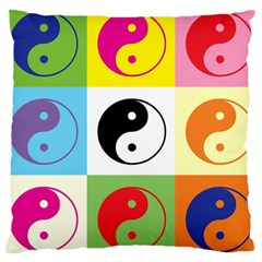 Ying Yang   Large Cushion Case (single Sided)  by Siebenhuehner