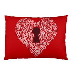 The Key to my heart Pillow Case by Contest1836099