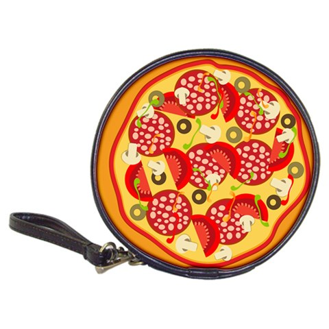 Pizza By Divad Brown   Classic 20 Cd Wallet   Uia2lmkyh1kg   Www Artscow Com Front