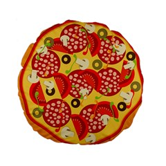 Pizza By Divad Brown   Standard 15  Premium Round Cushion    Wnw8ub855ifq   Www Artscow Com Front