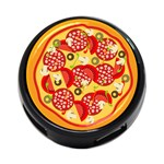 pizza - 4-Port USB Hub (Two Sides)