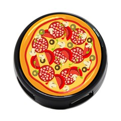 Pizza By Divad Brown   4 Port Usb Hub (two Sides)   8a59nhot26ag   Www Artscow Com Back