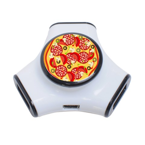 Pizza By Divad Brown   3 Port Usb Hub   Z3htn6pyxgwz   Www Artscow Com Front