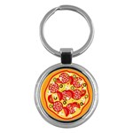 pizza - Key Chain (Round)