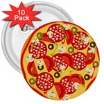 pizza - 3  Button (10 pack)