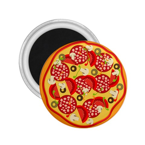 Pizza By Divad Brown   2 25  Magnet   7a6ob9kmdam6   Www Artscow Com Front