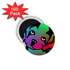 Dog 1 75  Button Magnet (100 Pack)