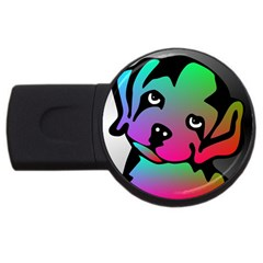 Dog 2gb Usb Flash Drive (round) by Siebenhuehner