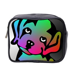 Dog Mini Travel Toiletry Bag (two Sides) by Siebenhuehner