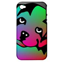 Dog Apple Iphone 4/4s Hardshell Case (pc+silicone) by Siebenhuehner