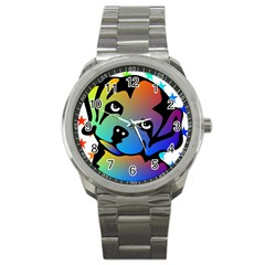 Dog Sport Metal Watch by Siebenhuehner