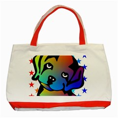 Dog Classic Tote Bag (red) by Siebenhuehner