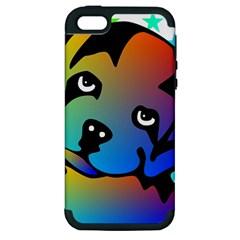 Dog Apple Iphone 5 Hardshell Case (pc+silicone) by Siebenhuehner