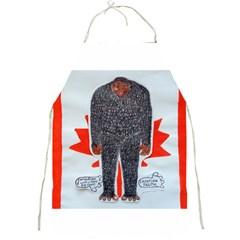 Big Foot H, Canada Flag Apron by creationtruth