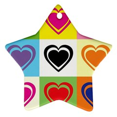 Hearts Star Ornament by Siebenhuehner
