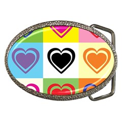 Hearts Belt Buckle (oval) by Siebenhuehner
