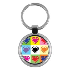 Hearts Key Chain (round) by Siebenhuehner