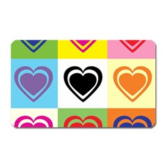 Hearts Magnet (rectangular) by Siebenhuehner