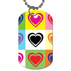 Hearts Dog Tag (one Sided) by Siebenhuehner