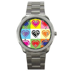Hearts Sport Metal Watch by Siebenhuehner