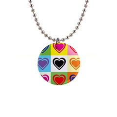 Hearts Button Necklace by Siebenhuehner