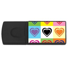 Hearts 4gb Usb Flash Drive (rectangle) by Siebenhuehner