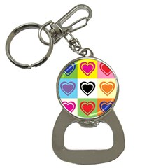 Hearts Bottle Opener Key Chain by Siebenhuehner