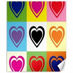 Hearts Canvas 8  X 10  (unframed) by Siebenhuehner