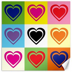 Hearts Canvas 20  X 20  (unframed) by Siebenhuehner