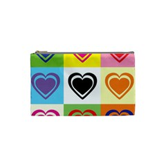 Hearts Cosmetic Bag (small) by Siebenhuehner