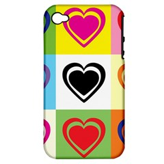Hearts Apple Iphone 4/4s Hardshell Case (pc+silicone) by Siebenhuehner