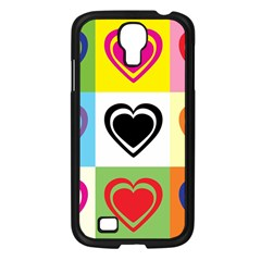 Hearts Samsung Galaxy S4 I9500/ I9505 Case (black) by Siebenhuehner