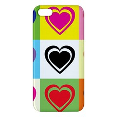 Hearts Iphone 5s Premium Hardshell Case by Siebenhuehner