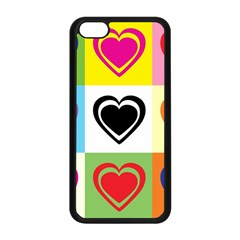 Hearts Apple Iphone 5c Seamless Case (black) by Siebenhuehner