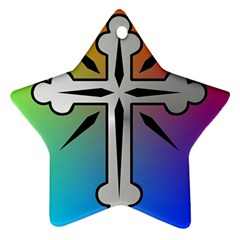 Cross Star Ornament by Siebenhuehner