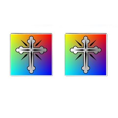 Cross Cufflinks (square) by Siebenhuehner