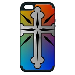 Cross Apple Iphone 5 Hardshell Case (pc+silicone) by Siebenhuehner