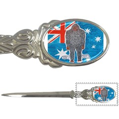 Big Foot A, Australia Flag Letter Opener by creationtruth