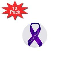 Fibro Awareness Ribbon 1  Mini Button (10 Pack) by FunWithFibro