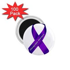 Fibro Awareness Ribbon 1.75  Button Magnet (100 pack)