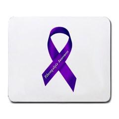 Fibro Awareness Ribbon Large Mouse Pad (rectangle) by FunWithFibro