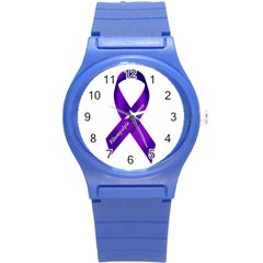 Fibro Awareness Ribbon Plastic Sport Watch (small) by FunWithFibro