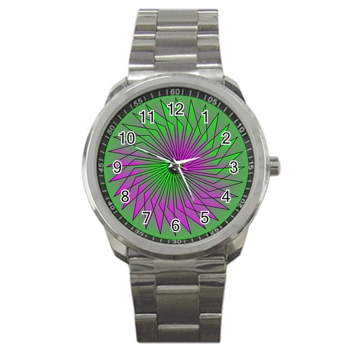 Pattern Sport Metal Watch